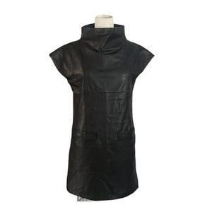 Marc Jacobs Leather Mini Dress S